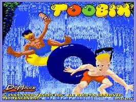 Title screen of Toobin' on the Commodore Amiga.