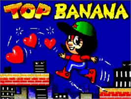 Title screen of Top Banana on the Commodore Amiga.
