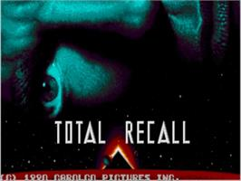 Title screen of Total Recall on the Commodore Amiga.