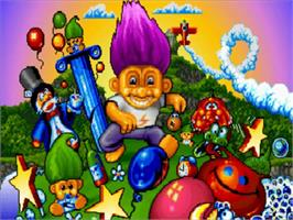Title screen of Trolls on the Commodore Amiga.