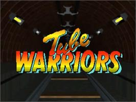 Title screen of Tube Warriors on the Commodore Amiga.