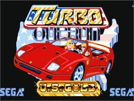Title screen of Turbo Out Run on the Commodore Amiga.
