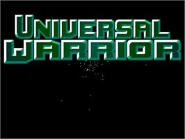 Title screen of Universal Warrior on the Commodore Amiga.