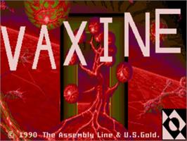 Title screen of Vaxine on the Commodore Amiga.