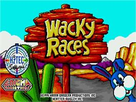 Title screen of Wacky Races on the Commodore Amiga.