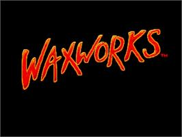 Title screen of Waxworks on the Commodore Amiga.