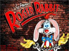 Title screen of Who Framed Roger Rabbit? on the Commodore Amiga.