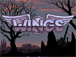 Title screen of Wings on the Commodore Amiga.