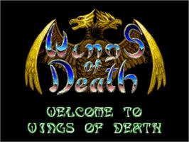 Title screen of Wings of Death on the Commodore Amiga.