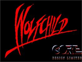 Title screen of Wolfchild on the Commodore Amiga.