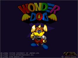 Title screen of Wonder Dog on the Commodore Amiga.