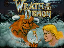 Title screen of Wrath of the Demon on the Commodore Amiga.