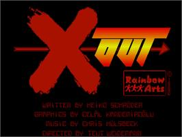 Title screen of X-Out on the Commodore Amiga.
