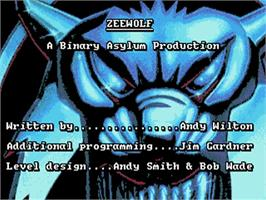 Title screen of Zeewolf on the Commodore Amiga.