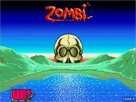 Title screen of Zombi on the Commodore Amiga.