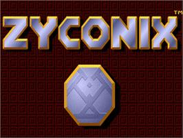 Title screen of Zyconix on the Commodore Amiga.