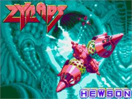 Title screen of Zynaps on the Commodore Amiga.