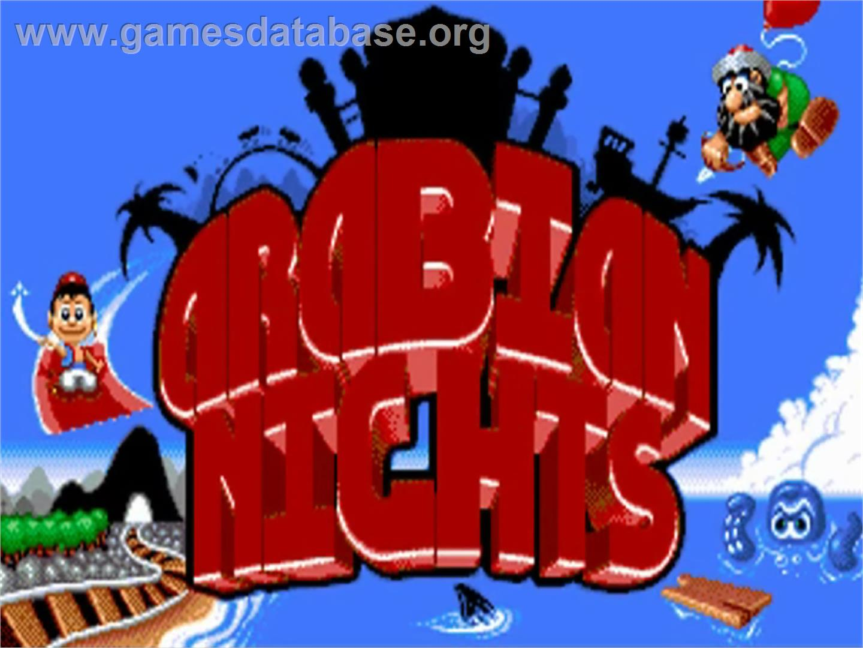 Title screen of Arabian Nights on the Commodore Amiga.