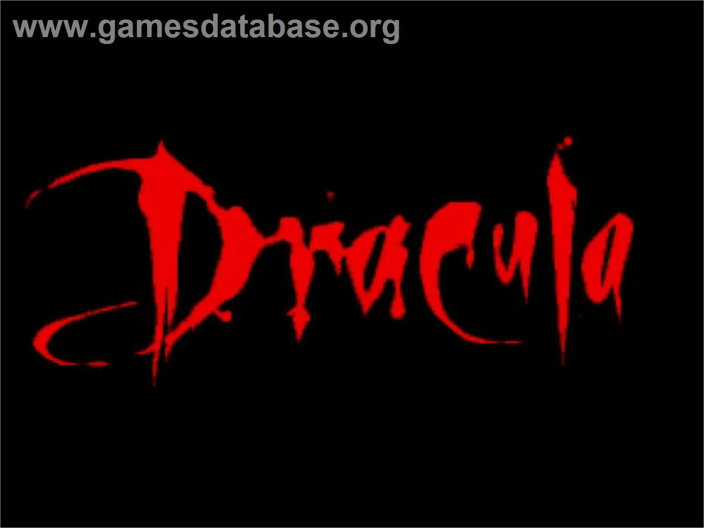 Title screen of Bram Stoker's Dracula on the Commodore Amiga.