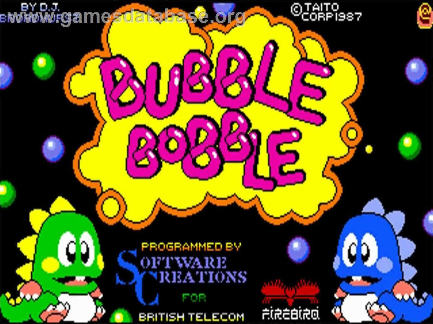 Bubble Bobble - Commodore Amiga - Artwork - Title Screen