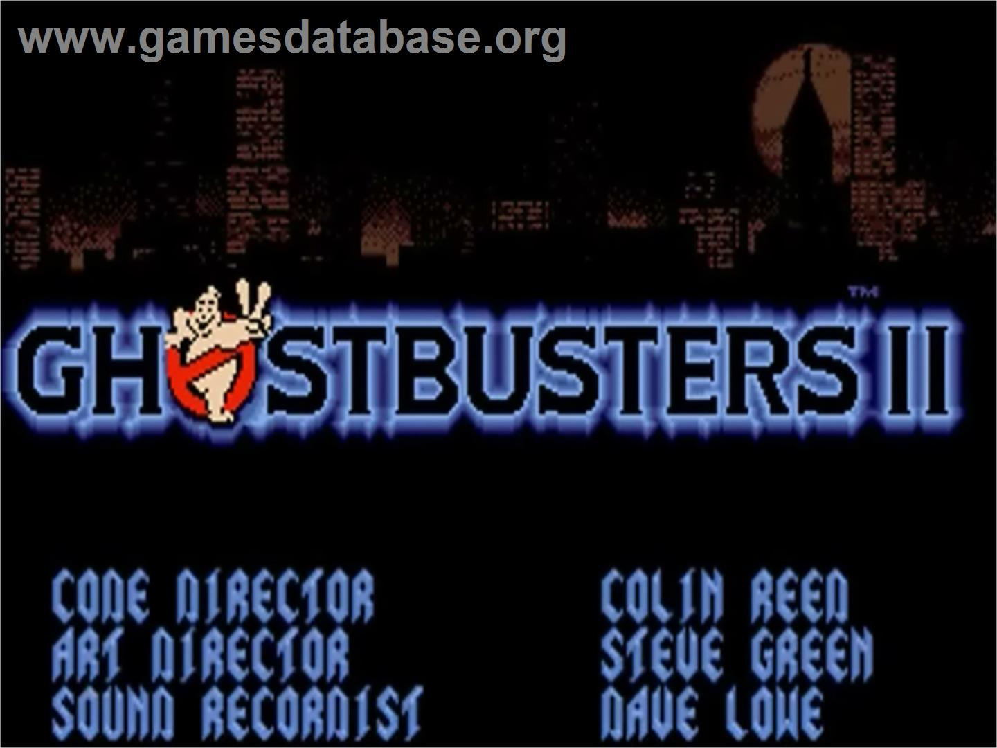Title Screen Of Ghostbusters 2 On The Commodore Amiga