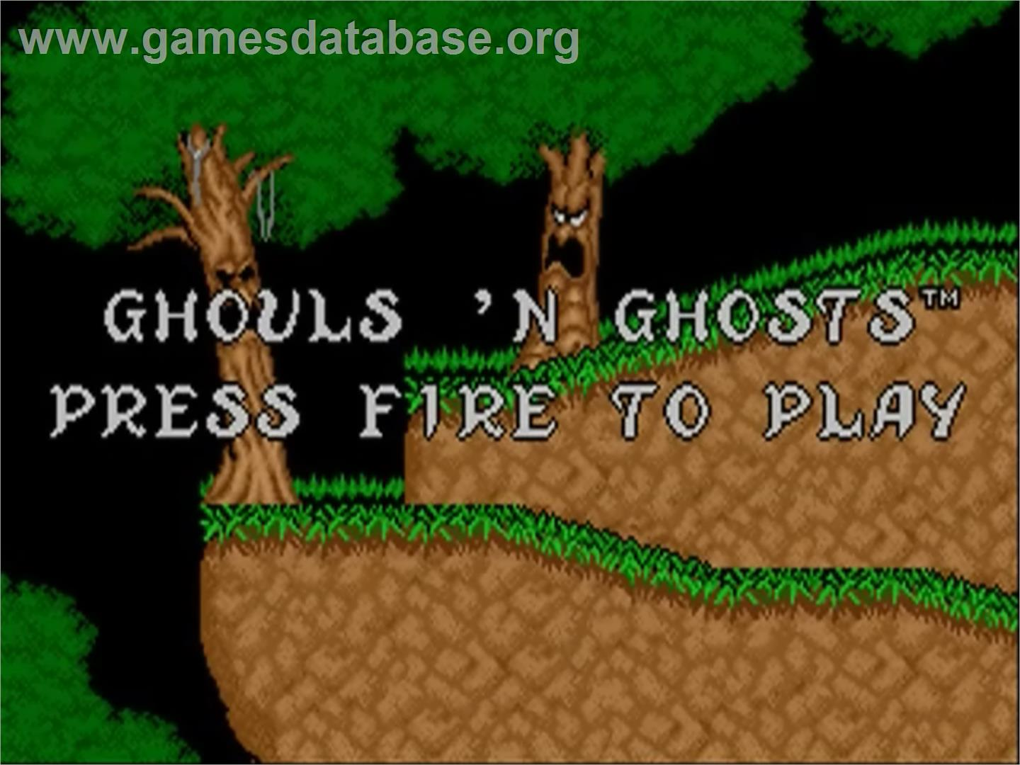 Ghouls'n Ghosts - Commodore Amiga - Artwork - Title Screen