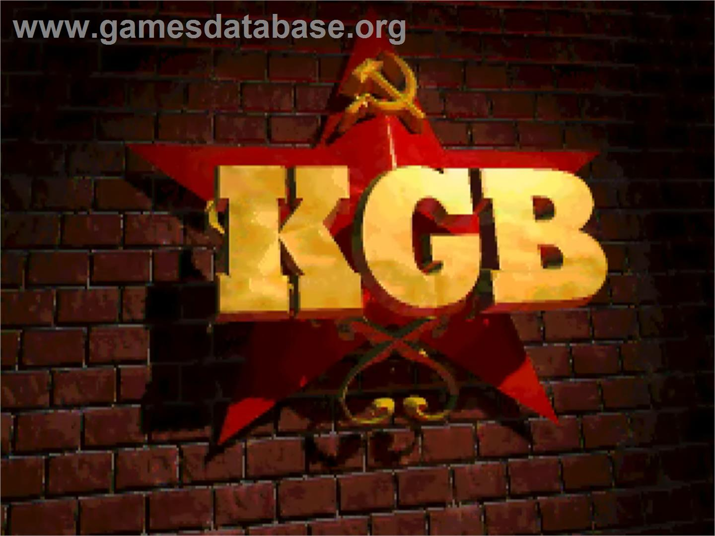 KGB - Commodore Amiga - Artwork - Title Screen