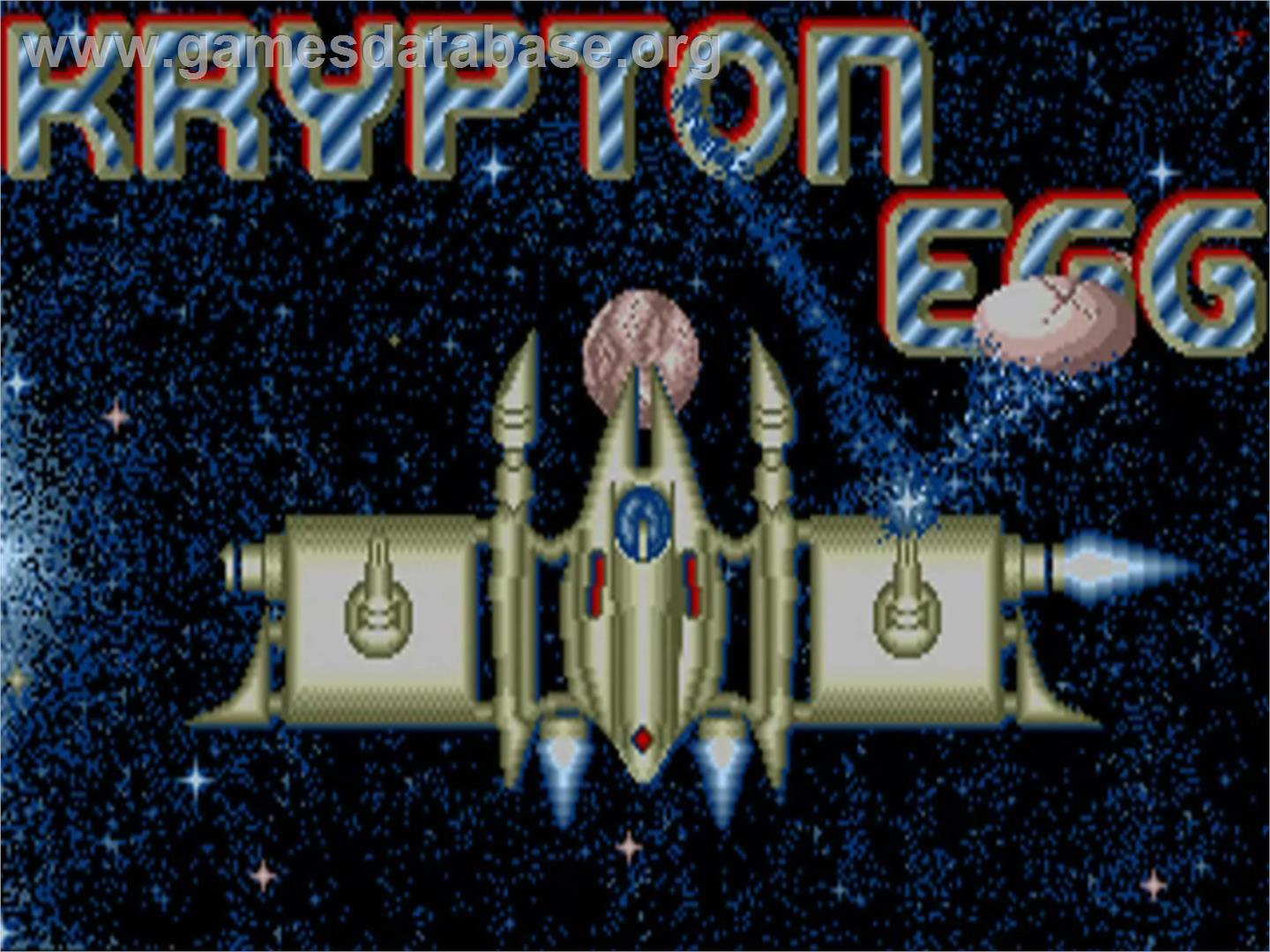 Krypton Egg - Commodore Amiga - Artwork - Title Screen