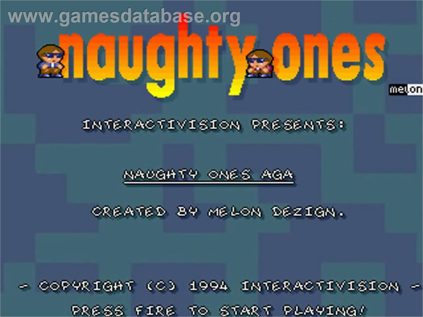 Naughty Ones - Commodore Amiga - Artwork - Title Screen