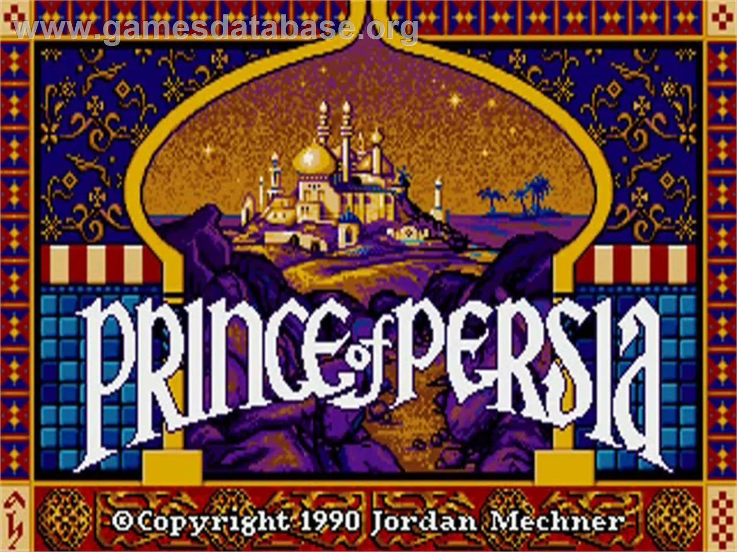 prince of persia 1990 game