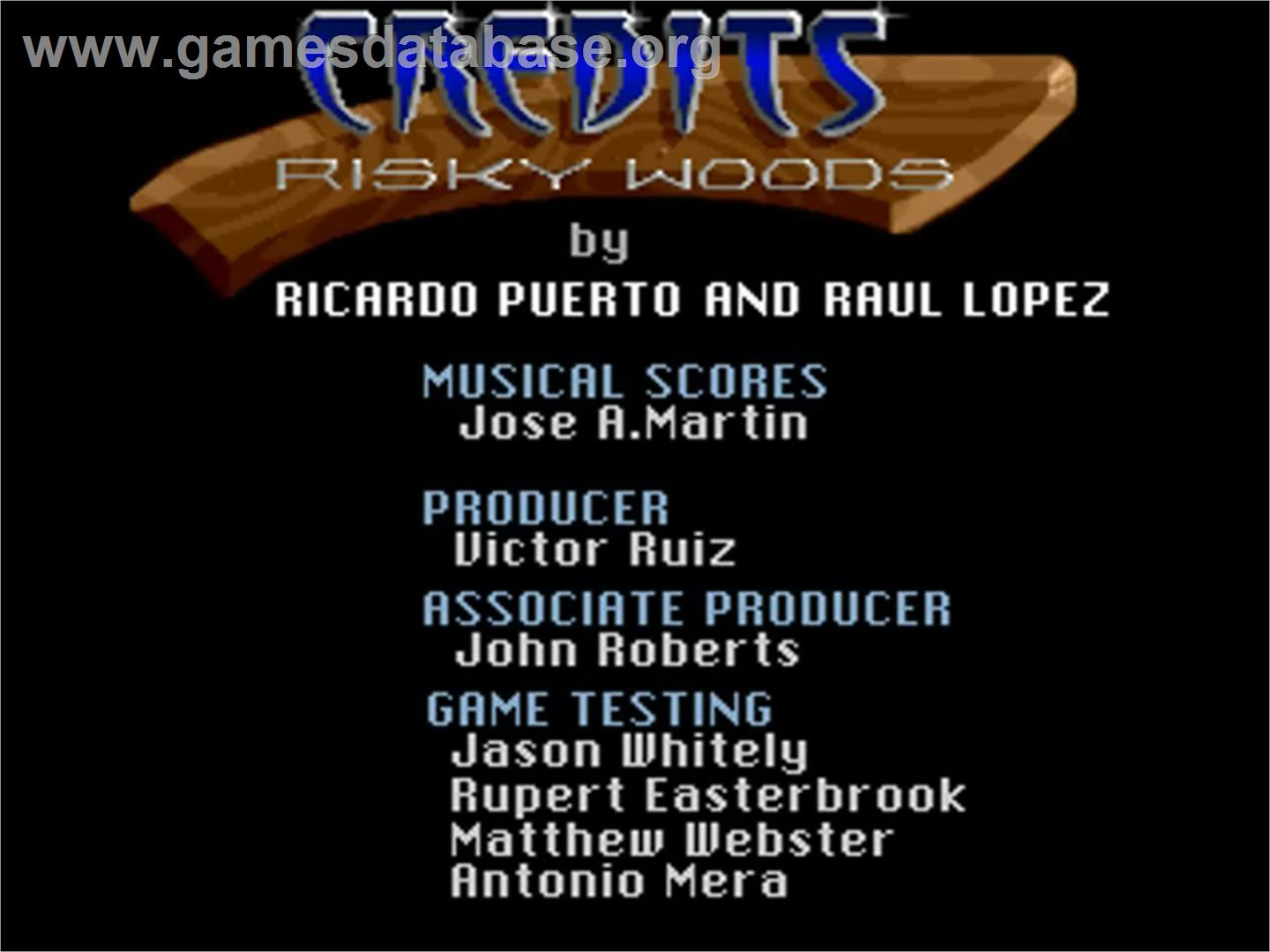 Risky Woods - Commodore Amiga - Artwork - Title Screen