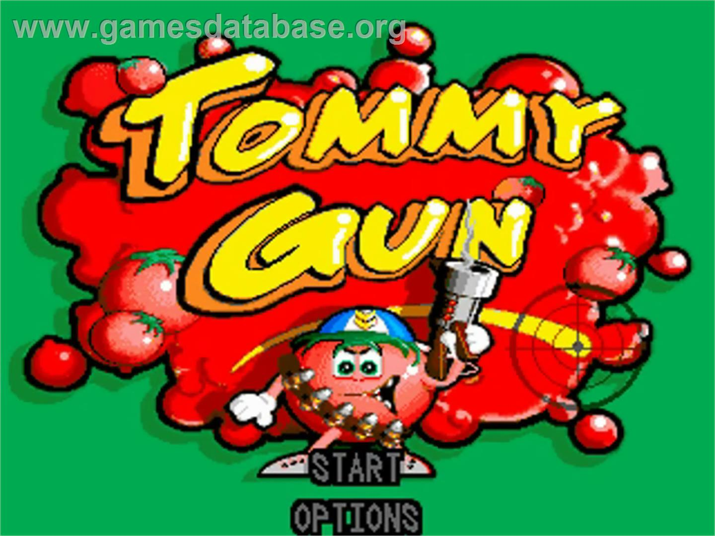 Title screen of Tommy Gun on the Commodore Amiga.