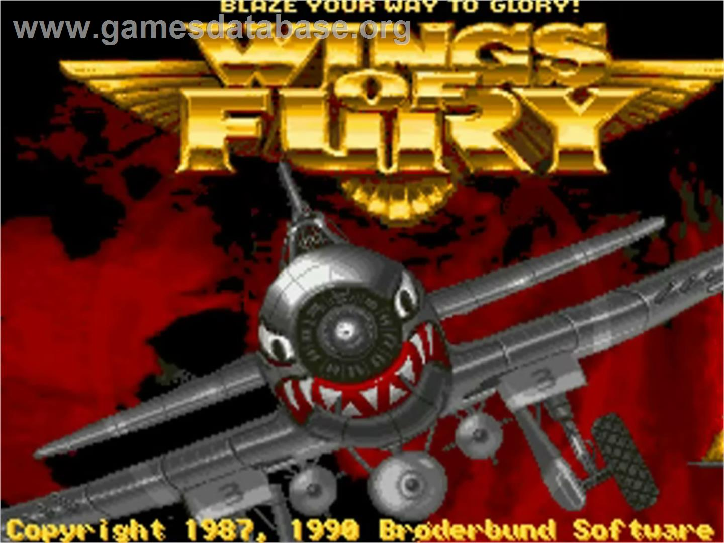 Wings of fury commodore amiga games database for Wings of fury