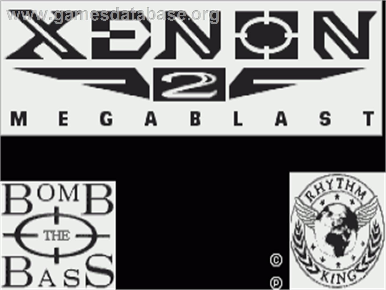 Title screen of Xenon 2: Megablast on the Commodore Amiga.