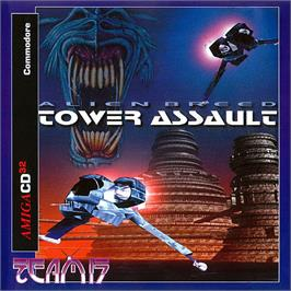 Box cover for Alien Breed: Tower Assault on the Commodore Amiga CD32.