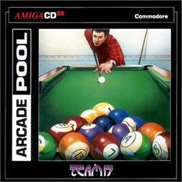 Box cover for Arcade Pool on the Commodore Amiga CD32.