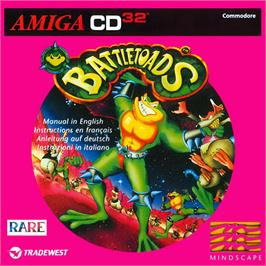Box cover for Battle Toads on the Commodore Amiga CD32.