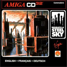 Box cover for Beneath a Steel Sky on the Commodore Amiga CD32.