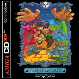 Box cover for Benefactor on the Commodore Amiga CD32.
