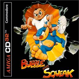 Box cover for Bubble and Squeak on the Commodore Amiga CD32.