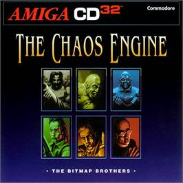 Box cover for Chaos Engine on the Commodore Amiga CD32.