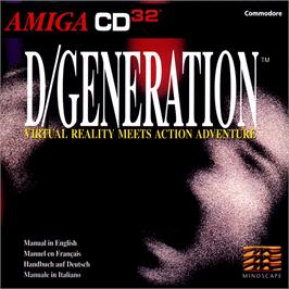 Box cover for D/Generation on the Commodore Amiga CD32.