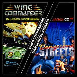 Box cover for Dangerous Streets & Wing Commander on the Commodore Amiga CD32.