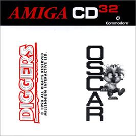 Box cover for Diggers & Oscar on the Commodore Amiga CD32.