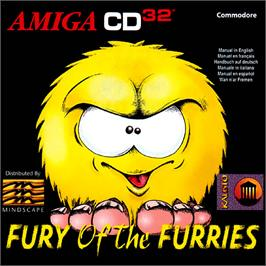 Box cover for Fury of the Furries on the Commodore Amiga CD32.