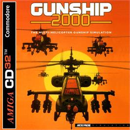 Box cover for Gunship 2000 on the Commodore Amiga CD32.