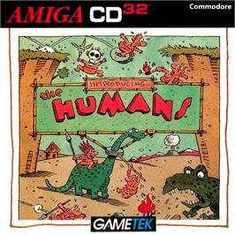 Box cover for Humans 1 and 2 on the Commodore Amiga CD32.