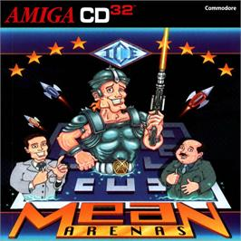 Box cover for Mean Arenas on the Commodore Amiga CD32.