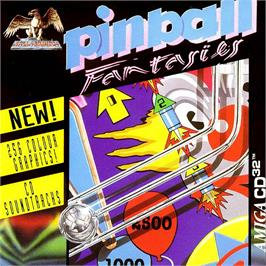 Box cover for Pinball Fantasies on the Commodore Amiga CD32.