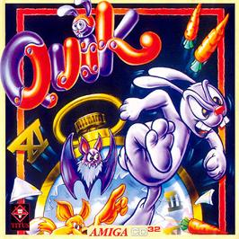 Box cover for Quik the Thunder Rabbit on the Commodore Amiga CD32.